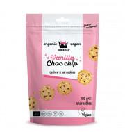 Cookies cu vanilie si ciocolata fara gluten bio 100g Kookie Cat