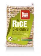 Rondele de orez expandat cu 3 cereale eco 130g