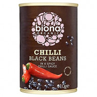 Fasole neagra in sos chilli 410g Biona