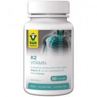 Vitamina K2 1500mg, 50 tablete vegane RAAB