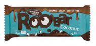 Baton cu cocos invelit in ciocolata bio 30g Roobar
