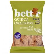 Crackers cu quinoa, rosii si busuioc fara gluten eco 100g Bettr