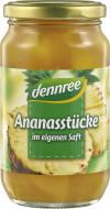 Ananas bucati in suc de ananas bio 350g Dennree