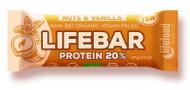 Lifebar baton proteic cu nuci si vanilie raw bio 47g