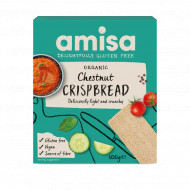 Crispbread (painici) cu faina de castane fara gluten eco 100g Amisa
