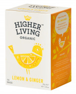 Ceai lamaie si ghimbir eco, 15 plicuri, Higher Living