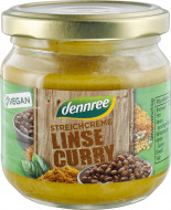 Crema tartinabila cu linte si curry bio 180g Dennree
