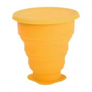 Pahar Pliabil Pentru Igienizarea Cupei Menstruale Galben 225Ml