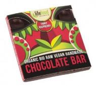 Ciocolata cu zmeura raw eco 35g