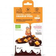Coaja de portocala invelita in ciocolata bio 80g