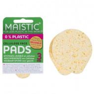 Dischete demachiante reutilizabile din celuloza, plastic free, 3 buc, Maistic