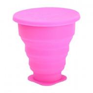 Pahar Pliabil Pentru Igienizarea Cupei Menstruale Roz 225Ml