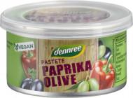 Pasta vegana cu ardei rosu si masline bio 125g Dennree