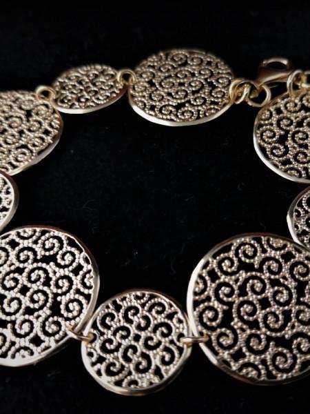 Bratara -argint placat cu aur -Filigran Style-BRTT5098PLGIA