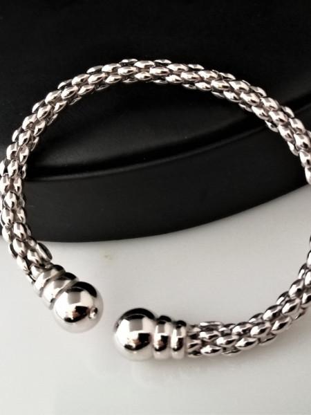 Bratara argint semideschisa -reglabila -BRSI0102RH6+Pandantiv argint agat -Cadou