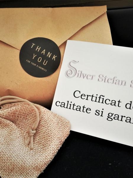 Colier argint mare -CTSI0105RH9 + BRATARA CADOU