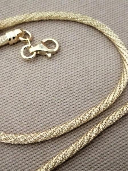 Bratara impletita - argint placat cu aur -BRSS2779PLGIA
