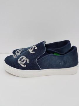 дамски спортни обувки - деним / women's sports shoes - denim изображения