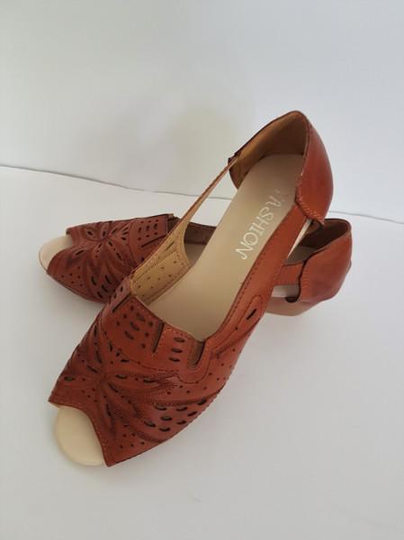 дамски обувки F24-142 кафе