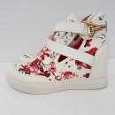 дамски обувкис вътрешна платформа - бяло / women's sports shoes - red