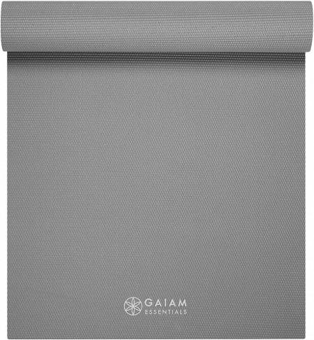 Saltea Yoga Gaiam Essentials 6 mm Gri