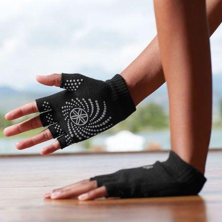 Manusi Fara Degete Yoga Gaiam Negre