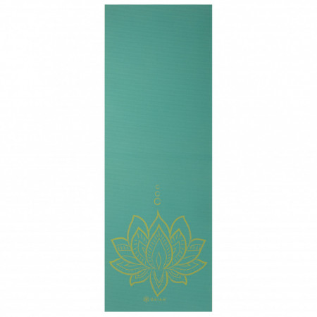 Saltea Yoga Gaiam Reversibila 6 mm Turquoise Lotus