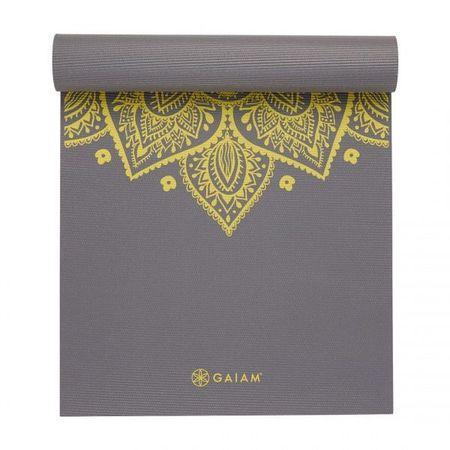 Saltea Yoga Gaiam 6 mm Citron Sundial