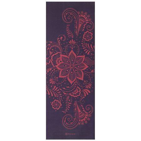 Saltea Yoga Gaiam 6 mm Aubergine Swirl