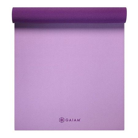 Saltea Yoga Gaiam Reversibila 6 mm Plum Jam