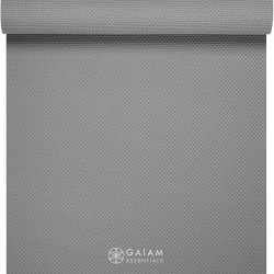 Saltea Yoga Gaiam Essentials 6 mm Gri