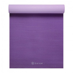 Saltea Yoga Gaiam Reversibila 5 mm Plum Jam