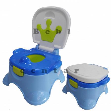 Slika Noša za decu sa adapterom i step stolica Kruna Plava