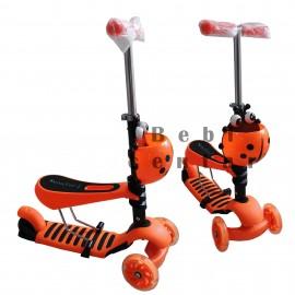 Slika Trotinet za decu Scooter Bubamara Oranž 3 u 1