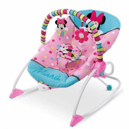 Slika Ležaljka sa vibracijom Kids II Disney Baby Lezaljka Minnie Mouse PeekABoo Rocker 10360