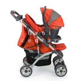 Slika Pegolini Kolica za decu sa auto sedištem Space plus Orange