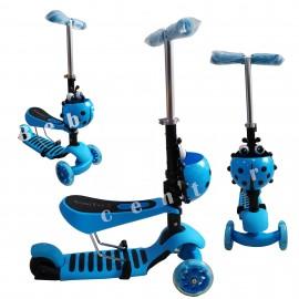 Slika Trotinet za decu Scooter Bubamara Plavi 3 u 1