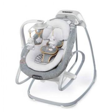 Slika Muzička ležaljka ljuljaška za bebe sa vibracijama Kids II Ingenuity Boutique SmartSize - Bella Teddy 11019