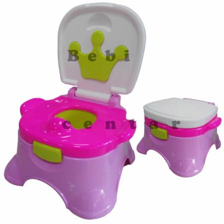 Slika Noša za decu sa adapterom i step stolica Kruna Roza