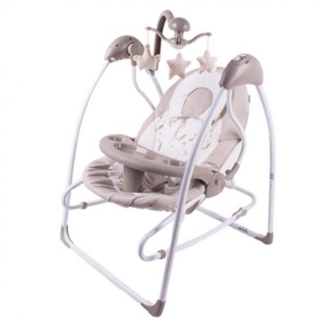 Slika Jungle Muzička ležaljka ljuljaška Baby Swing Grande Beige