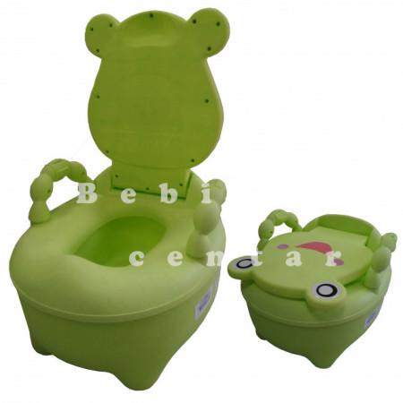 Noša za decu sa ručkama Žaba zelena