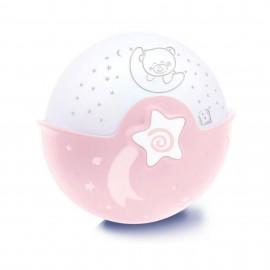 Slika Infantino Muzička noćna lampa sa zvezdanim projektorom za krevetac Pink