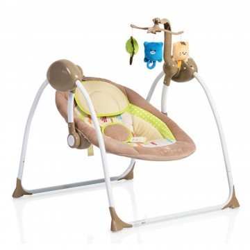 Muzička ležaljka Cangaroo Baby Swing Cappucino