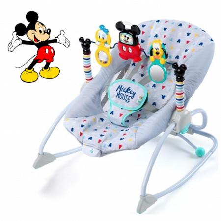 Ležaljka sa vibracijom Kids II Disney Baby Lezaljka Mickey Mouse Take Along Songs Infant to Toddler Rocker 10327