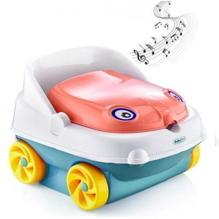 Slika Muzička noša BabyJem Potty Salmon Pink