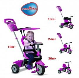 Slika Tricikl za decu sa ručkom za guranje 4 u 1 Smart Trike Vanilla Pink