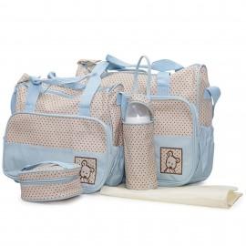 Slika Cangaroo Set Torba za mame Stella Blue + podloga za presvlačenje beba + termo torbica za flašicu