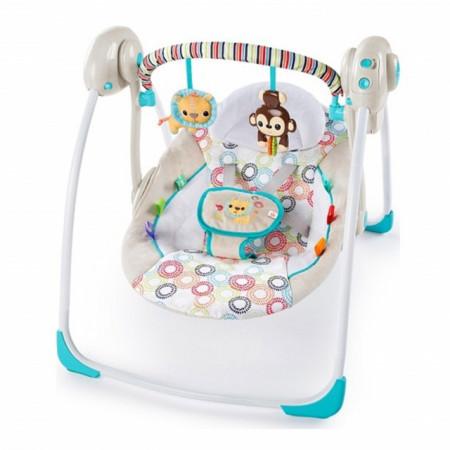 Kids II Muzička ležaljka ljuljaška Portable - Petite Jungle 11134