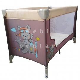 Krevetac za bebe Jungle Moon Beige Pilot Bear