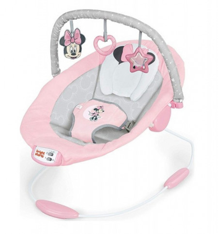 Slika Muzička ležaljka sa vibracijom Kids II Bright Starts Lezaljka Minnie Mouse Rosy Skies 12206